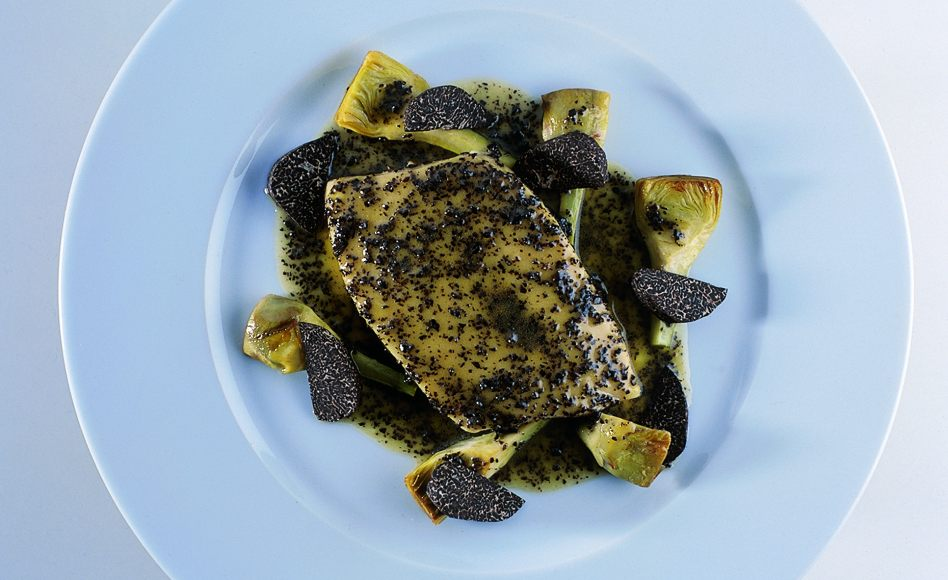 Large Coastal Sole with Truffles and Artichokes