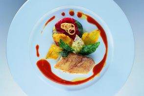 Griddled Sole with Vegetables and Piperade Sauce