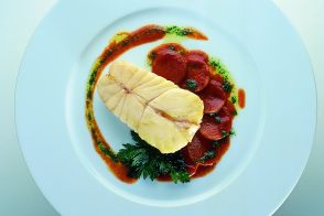 Wild Turbot with Ratatouille Sauce and Potatoes