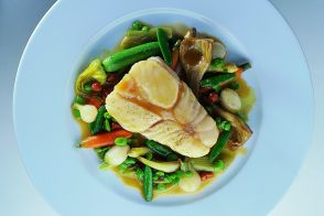 Steamed Turbot with Provençal Country Vegetables
