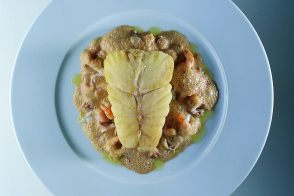 Baked Turbot with Emulsified Shrimp Jus