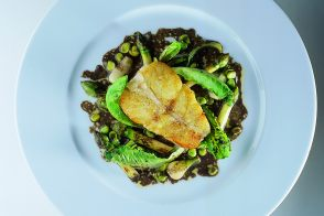 Turbot with Spring Vegetables and Black Truffle