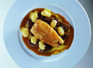 Slow-Cooked Turbot with Gnocchi and Morels