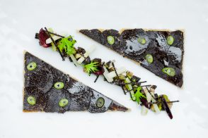 Black Truffle Tartines with Herbs by Annie Bertin