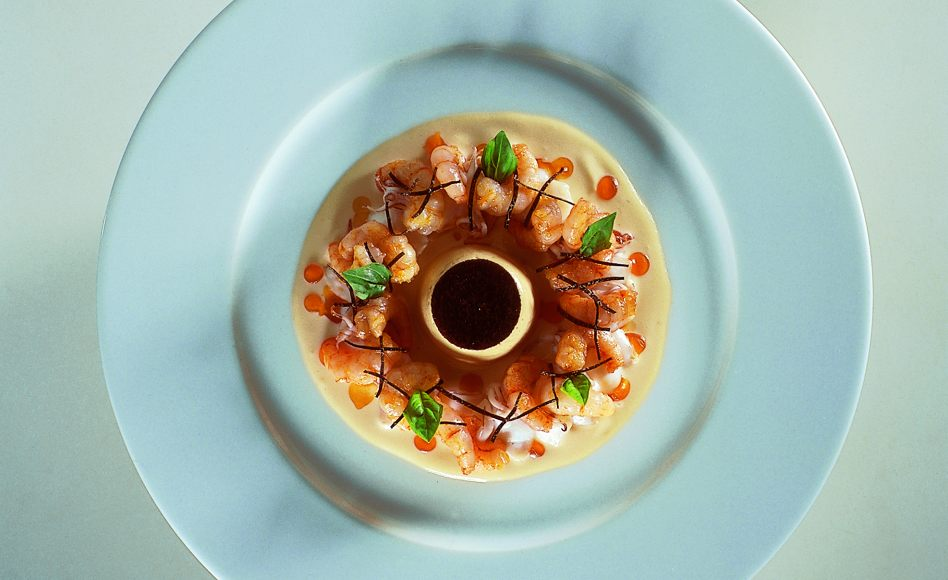 Chilled Shrimp in a Truffle Nage