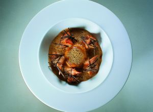 Crayfish Royale with Cream of Crayfish and Mushroom Soup