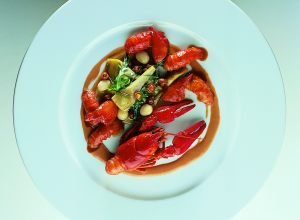 Crayfish Salad with Marinated Cranberry Beans