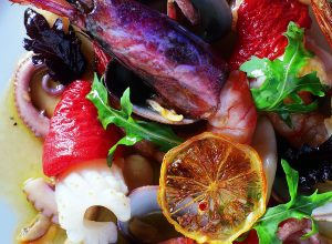 Warm Italian-Style Bean Salad with Seafood
