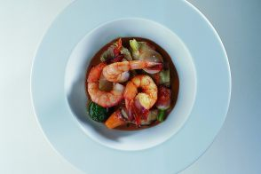 Mediterranean King Prawns with Chilled Summer Vegetables