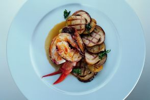 Flame-Grilled Lobster with Porcini Mushrooms and Potatoes