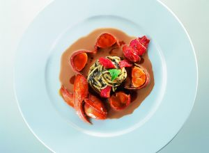 Grilled Lobster with Spaghettini, Truffles, and Tomatoes