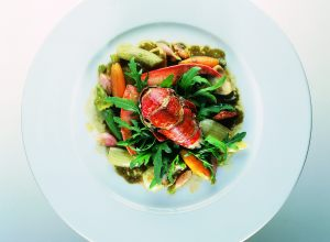 Sautéed Lobster with Vegetables