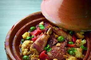 Moroccan chicken tagine with cauliflower
