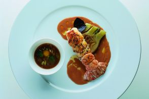 Langoustines with Fennel and Lobster Consommé