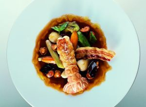 Roasted Langoustines with Chilled Vegetable Barigoula