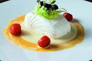 Halibut citrus emulsion