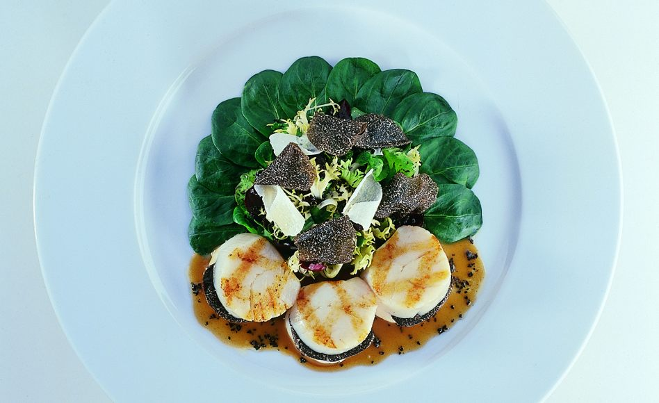 Winter Grilled Scallop and Truffle Salad