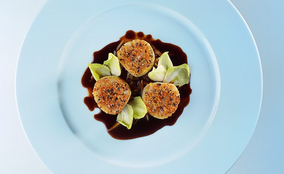 Baked Scallops With Endive Recipe — Dishmaps