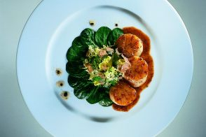 Autumn Grilled Scallop and White Truffle Salad