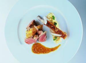 Limousin Lamb Two Ways with Spicy Curry Sauce