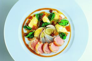 Grilled Lamb with Gnocchi and Batavia Lettuce