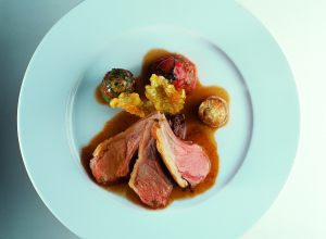 Lamb Loin with Stuffed Vegetables