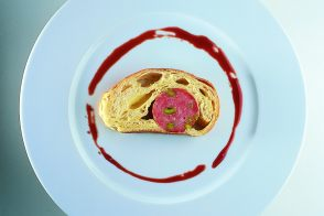 Lyonnais Cervelas with Pistachio and Aged Port Sauce