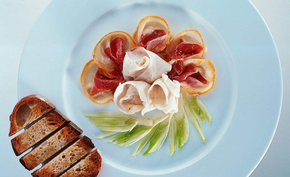 Jabugo Iberico Ham and Lardo di Colonnata with Fennel and Country Bread