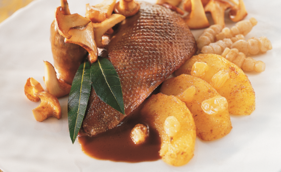 La Dombe Colvert Duck with Sweet-and-Sour Vegetables by Georges Blanc