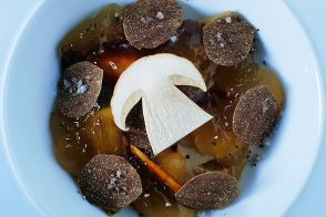 Jellied Veal Knuckle Consommé with Summer Truffles