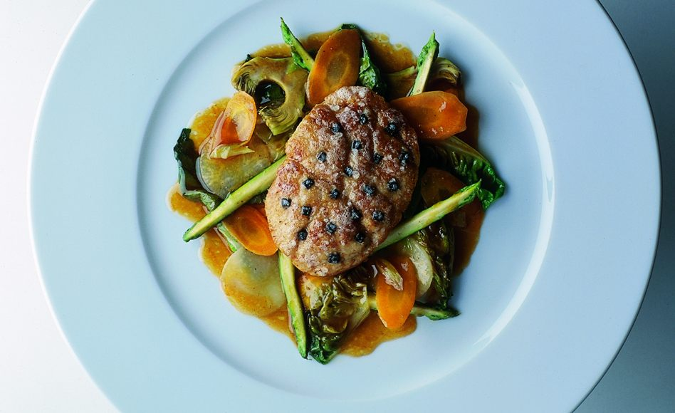 Roasted Sweetbreads with Sautéed Vegetables