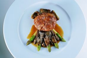 Farm-Raised Veal Sweetbreads with Artichokes, Asparagus and Morels