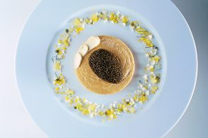 Iranian Imperial Osetra Caviar with Buckwheat Blini