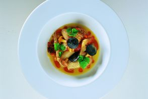 Alain Chapel's Free-Range Chicken Giblet Stew with Wild Mushrooms and Crayfish