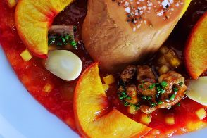 Duck Foie Gras with Tender Peaches