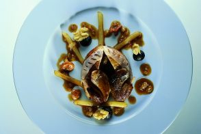 Wild Partridge with Walnuts and Salsify in a Muscadine Grape Sauce