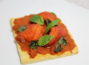 Tomato and basil tart by Alain Ducasse