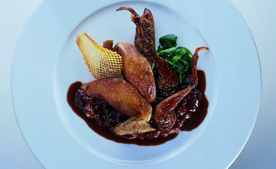 Roast Squab with Sour Cherry M...