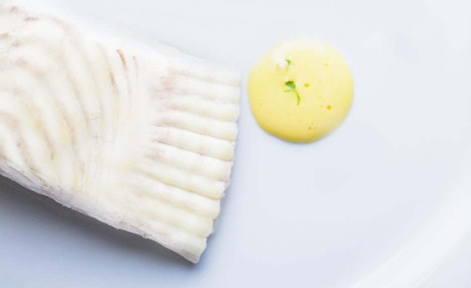 Poached turbot with hollandaise sauce by Alain Ducasse