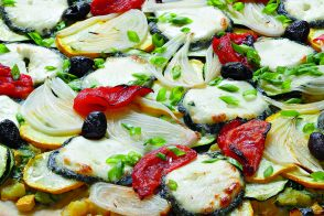 Zucchini and Sainte-Maure Pizza