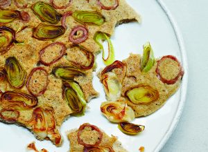 Buckwheat Crêpes with Andouille and Leeks