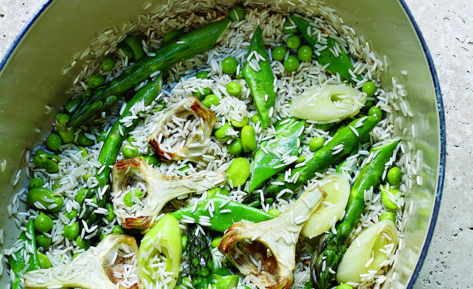 Steamed Rice and Spring Vegetables
