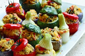 Baby Vegetables Stuffed with Millet