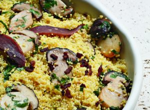 Millet Semolina with Porcini Mushrooms and Smoked Duck