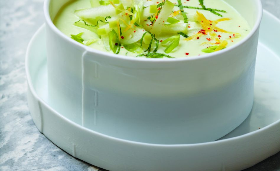 Cucumber and Yogurt Gazpacho with Fresh Mint