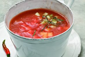 Watermelon and Cantaloupe Soup