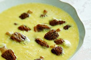 Corn Chowder with Morels
