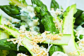 Deviled Salad with Cooked and Raw Asparagus