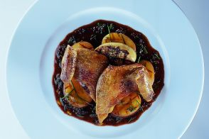 Squab Breast with Foie Gras and Potatoes