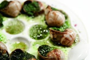 Recipe of escargots with herb-garlic butter by Alain Ducasse